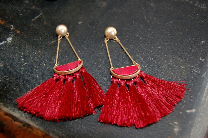 Vintage Inspired Tassel Earrings