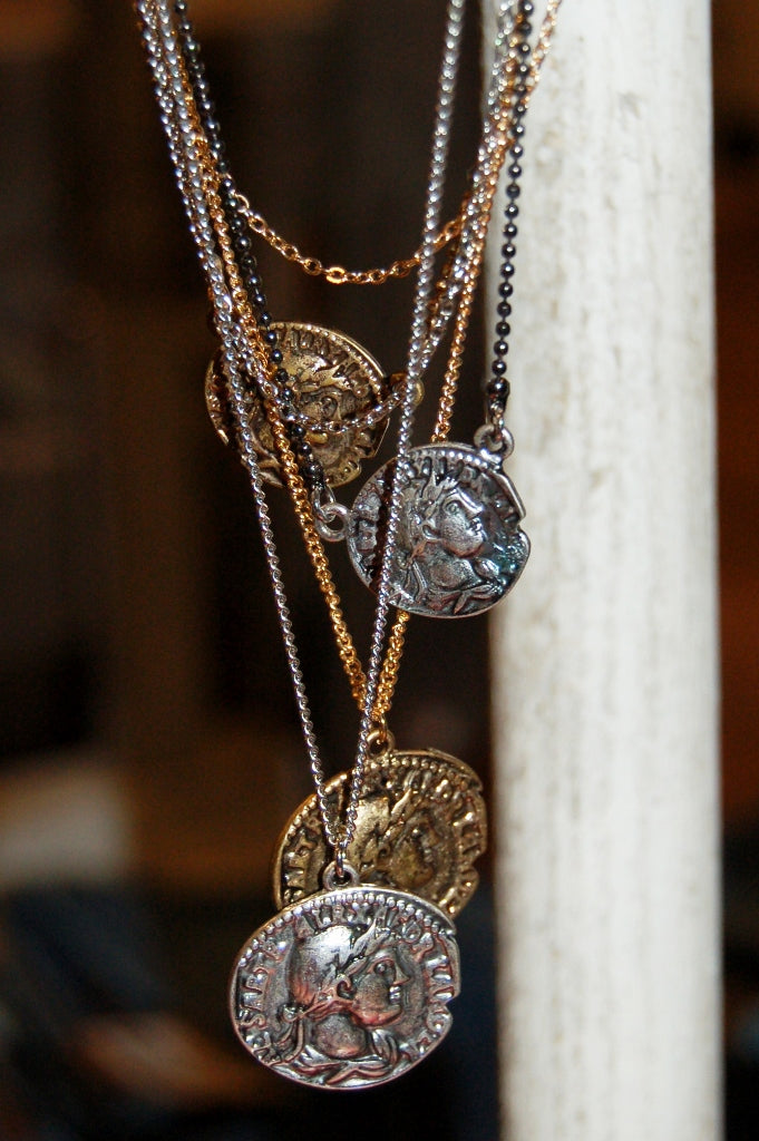 Antique Inspired Coin Necklace - Kade & Cate