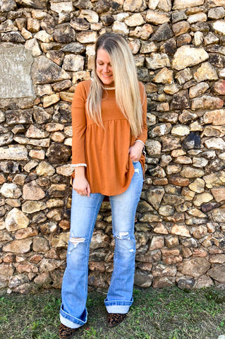 Cinnamon Spice And All Things Balloon Sleeve Sweatshirt Top