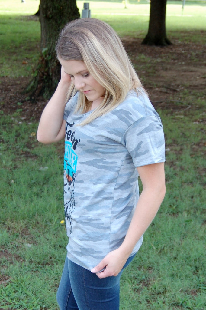 Feelin' Willie Good Camo Tee - Kade & Cate