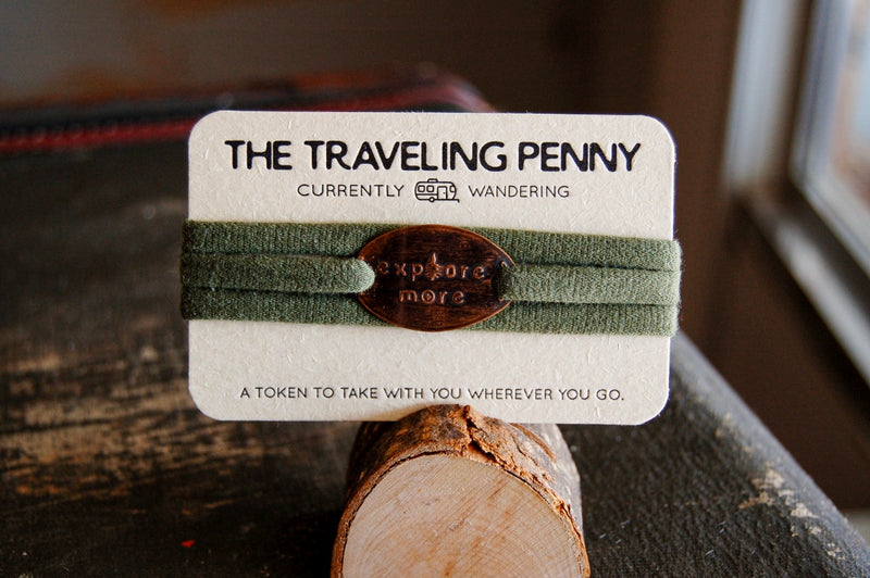 Traveling Penny Cloth Wrap Bracelet