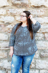 Stripes 3/4 Sleeve Top