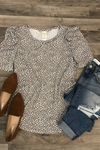 Silver Lining Oversized Sleeve Cable Knit Sweater