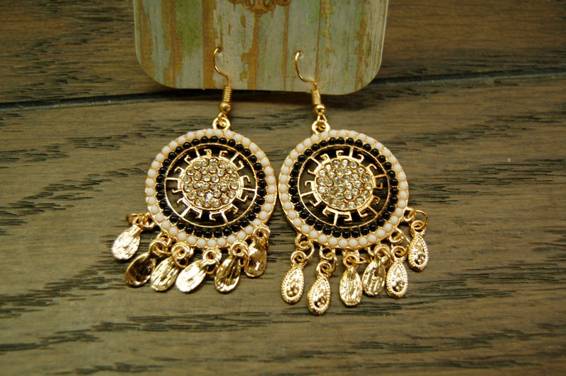 Gold Pave Earrings - Kade & Cate