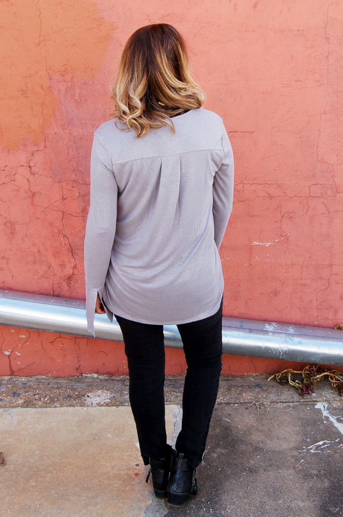 Silver Fox Bell Sleeve Top