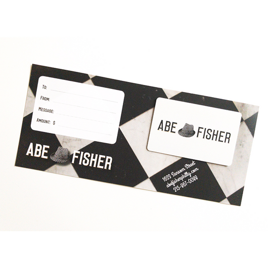Abe Fisher Gift Card