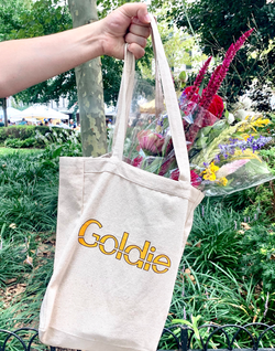 Goldie Canvas Tote Bag
