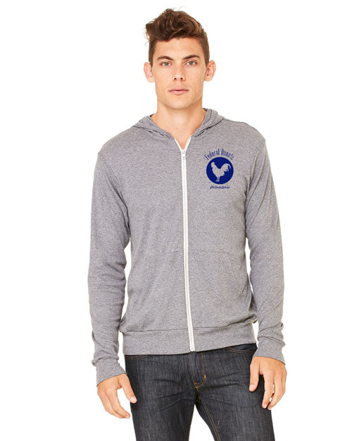 Federal Donuts Light Weight Rooster Zip Up