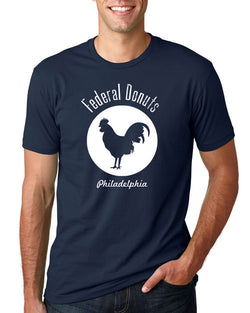 Federal Donuts Navy Blue Rooster T-Shirt