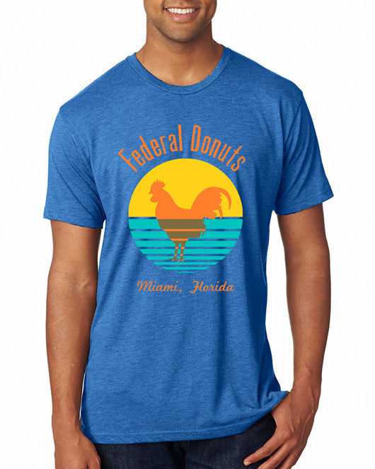 Federal Donuts Miami Heather Blue T-Shirt
