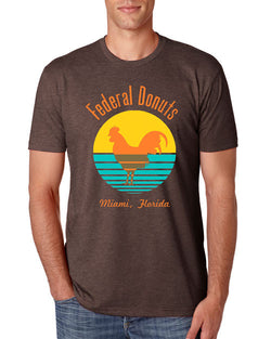 Federal Donuts Miami Espresso Brown T-Shirt