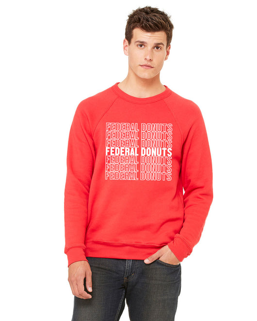 Federal Donuts Red Crew Neck