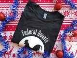 Federal Donuts Heather Black Rooster T-Shirt