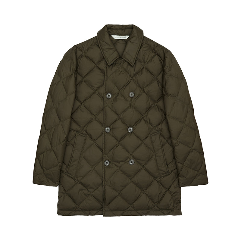 Men's Olive Quilted Down Jacket