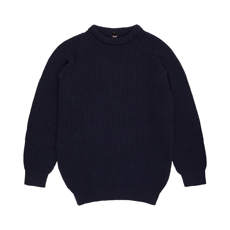 Navy Fisherman Knit Jumper