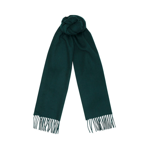 Green Cashmere Plain Scarf