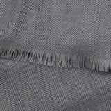 Silver And Grey Extrafine Merino Two-Tone Scarf