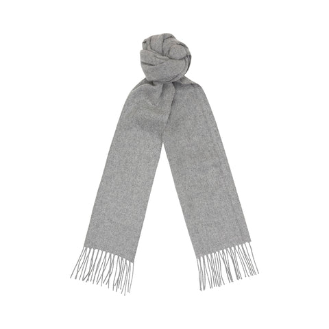 Grey Cashmere Plain Scarf