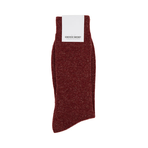 Burgundy Wool Socks