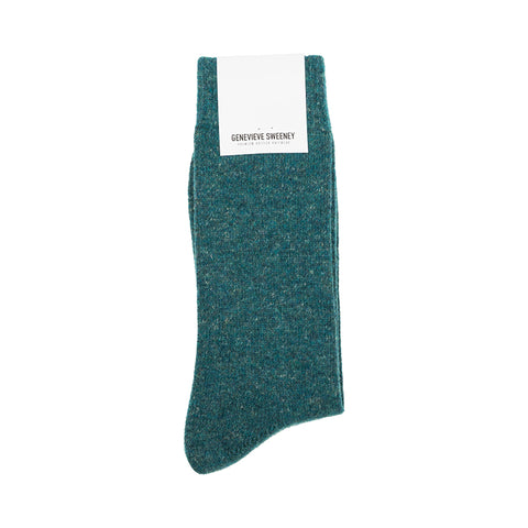 Teal Wool Socks