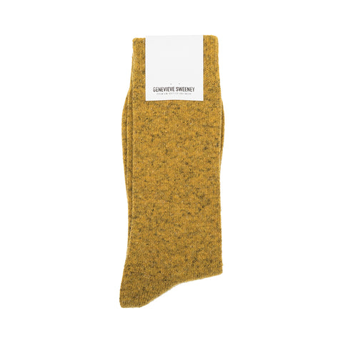 Mustard wool socks