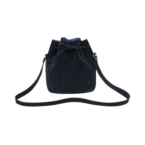 Small Suede Drawstring Bag