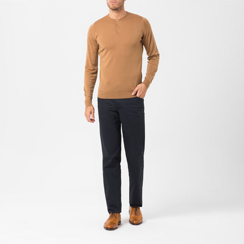 Camel Round Neck Jumper