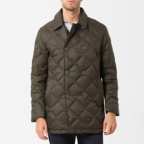 Olive Quilted Down Jacket
