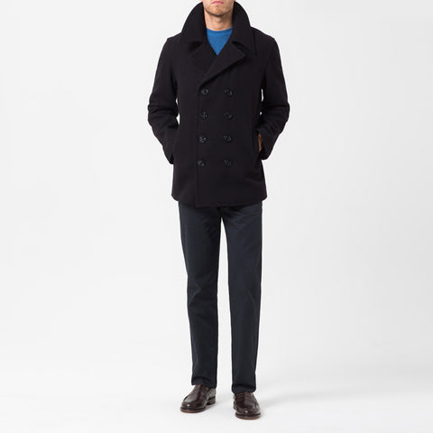 Navy reefer pea coat