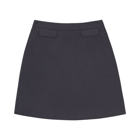 Petite Navy A-Line Cotton Skirt