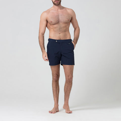 Navy Tailored Swim Shorts