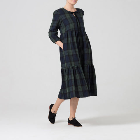 Black watch tartan dress