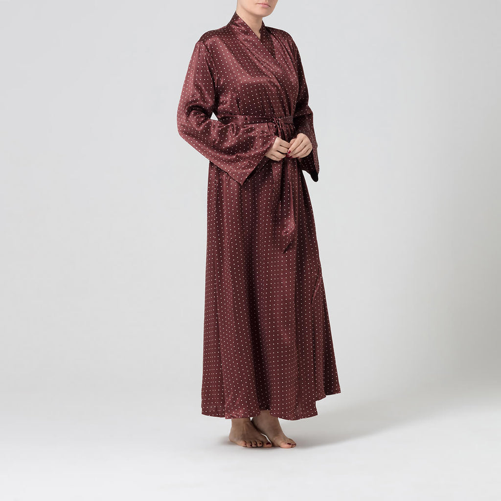 Alice & Astrid Full Length Silk Dressing Gown | Made in Britain ...