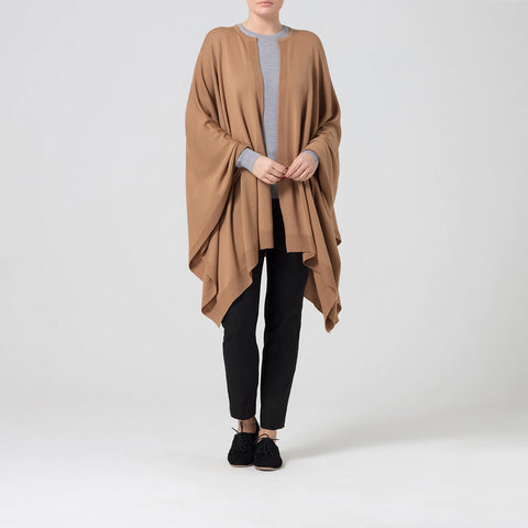Camel Merino Wool Cape
