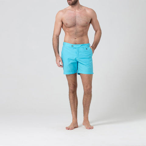 Light Blue Tailored Swim Shorts