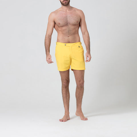 Yellow Tailored Swim Shorts