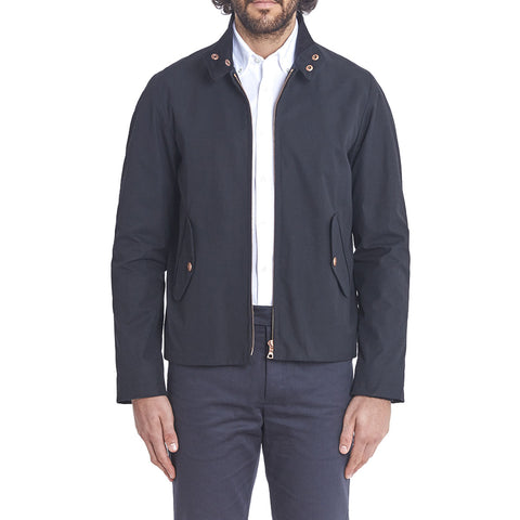 Navy Ventile Harrington Jacket