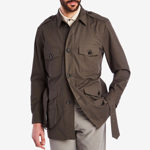 Brown Belted Safari Jacket