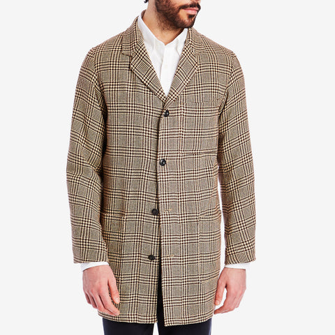Longline Brown Check Jacket