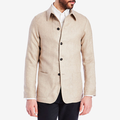 Beige Lightweight Shacket