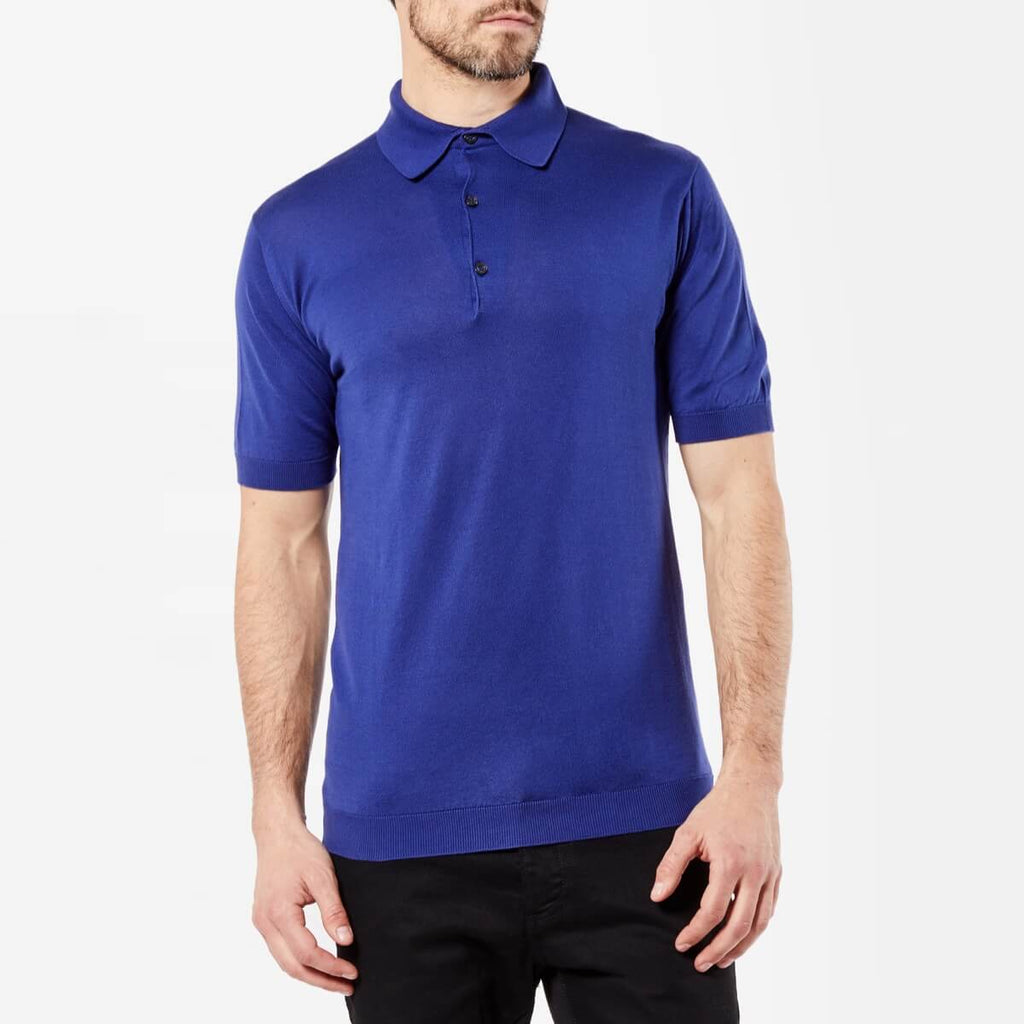 Blue Sea Island Cotton Polo Shirt