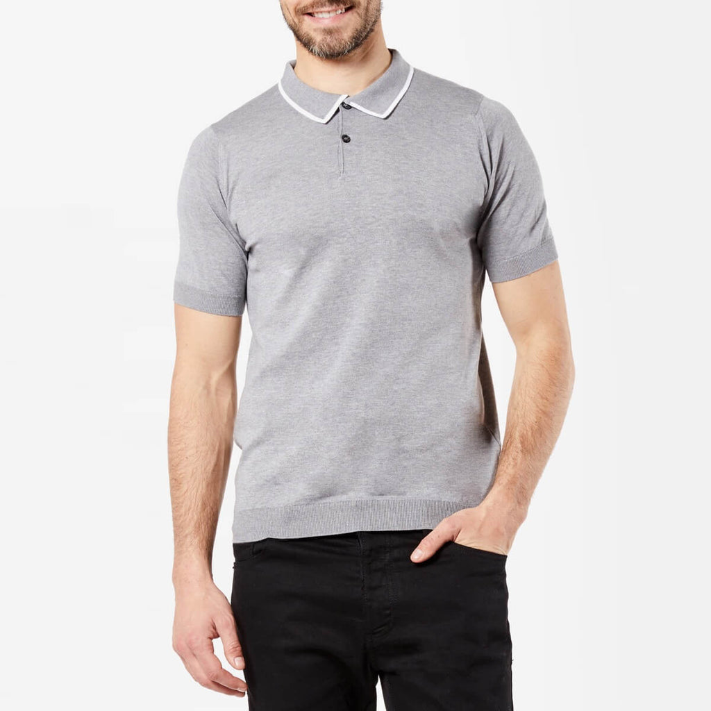Silver Tipped Sea Island Cotton Polo Shirt