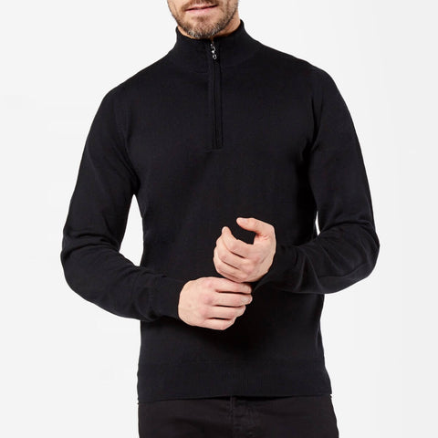 Zip Roll Neck Merino Jumper
