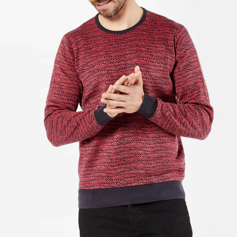 Jacquard Sea Island Cotton Crew Neck Jumper