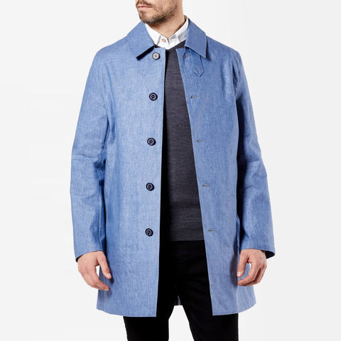 Denim Look Linen Coat