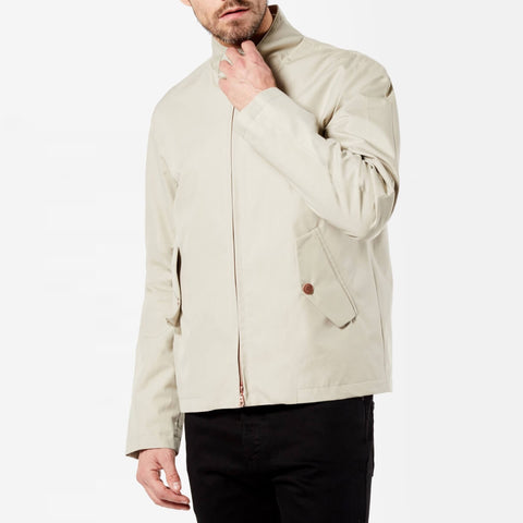 Light Beige Ventile Harrington Jacket