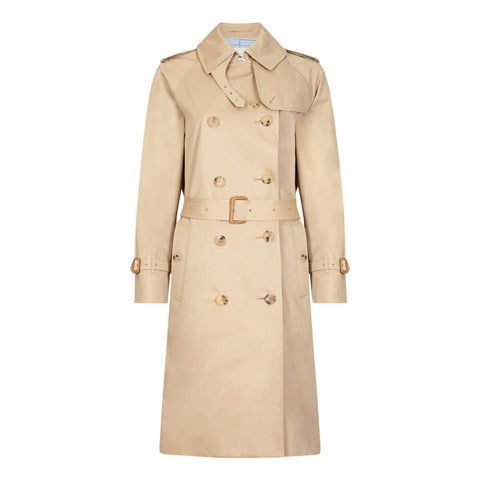 Beige Classic Double-Breasted Trench Coat