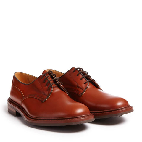 Brown Woodstock Derby Shoe with Dainite Rubber Sole