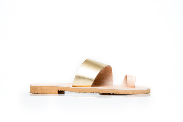 APLE gold and natural sandal