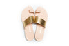 APLE GOLD/NATURAL FLAT SANDALS